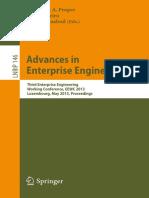 Springer - Advances in Enterprise Engineering Vii 2013