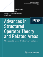 Springer - Advances in Structured Operator Theory and Related Areas 2013