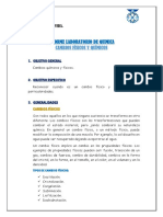 CAMBIOS FISICOS Y QUIMICOS LABORATORIO DE QUIMICA