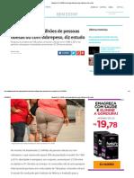 Mundo tem 2,1 bilhões de pessoas obesas ou com sobrepeso, diz estudo