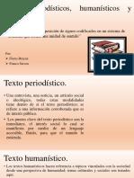 Textos periodísticos, humanísticos y científicos