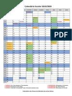 Calendário Escolar 19_20