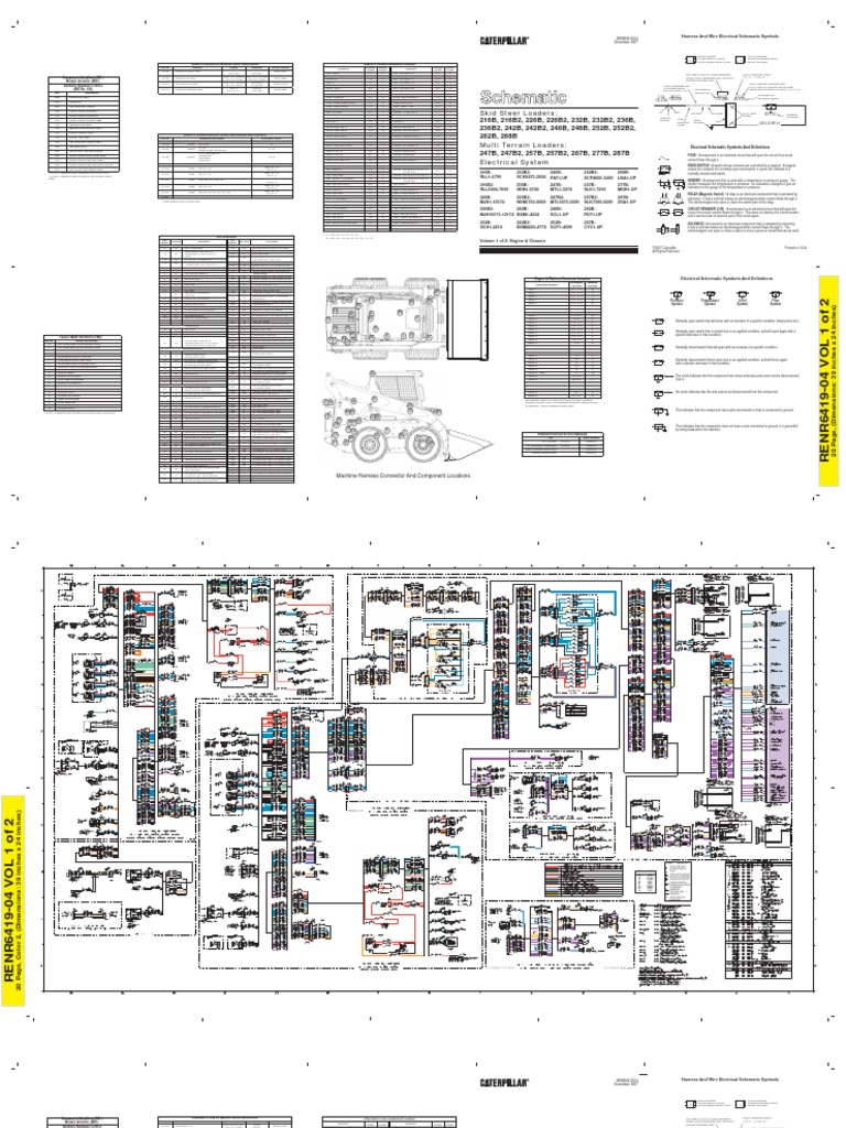 Cat 262b Wiring Diagram Electrical Connector Switch