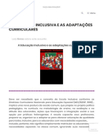 A EDUCAÇÃO INCLUSIVA E AS ADAPTAÇÕES CURRICULARES