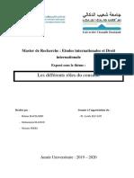 Master de Recherche sujet consulat ( EIDI M1)