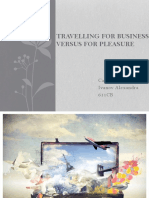 Traveling for business or pleasure