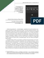 Comentario a Jean-Francois Bayart África en el espejo