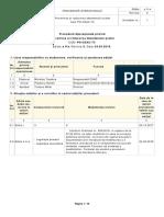 Procedura Formalizata privind Prevenirea și reducerea abandonului școlar