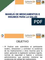 manejo de medicamentos e insumos para la salud