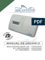 MAXICONTROLADOR LCD XTP040503 KIT CONTROLMAX XTP270503 KIT SEGURMAX XTR200503