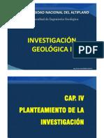 CAP. IV  PLANTEAMIENTO Y FORMULACIÓN DEL PROBLEMA