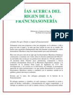 Teorias Acerca Del Origen de La Francmasoneria