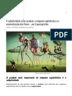 Subjetividade como produto_ a máquina capitalística - por Esquizografias