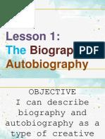 Lesson 1- Autobiography