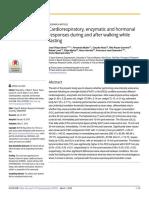 Cardiorespiratory, enzymatic and hormonal