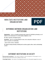 Non-state institutions and organizations