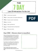 Manifestation 7 Day Experiment PDF