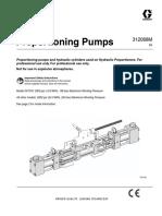 manual de reparacion y piezas para bomba proporcional de poliuretano 312068M
