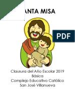 Santa Misa Clausura Año Escolar