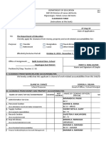 CLEARANCE FORM