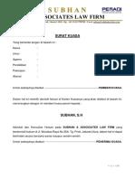 Surat Kuasa Izin Poligami di Pengadilan Agama