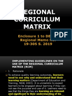 REGIONAL CURRICULUM MATRIX