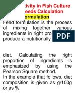 feed formulation