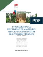 EVALUACIÓN DE LA EFECTIVIDAD DE MANEJO DEL REFUGIO DE VIDA SILVESTRE ISLA CORAZÓN Y FRAGATA.docx