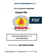 BEE COURSE FILE (19-20) I SEM