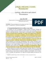 Adela Franze - Antropología, educación y escuela.