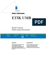 13. Studi Kasus ; Reformasi Birokrasi