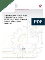 GUÍA METODOLÓGICA PARA EL DISEÑO DE PLANES Y PROG. DE ESTUDIO