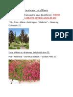 Landscape List of Plants[2]