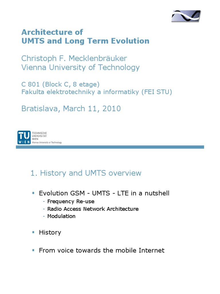 Architecture of UMTS and Long Term Evolution | Lte