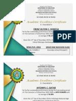 certificate of achievement HUMSS 2 2019-2020