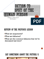 INTRODUCTION TO PHILOSOPHY OF THE HUMAN PERSON-freedom