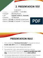 Presentation Test KMT 2019