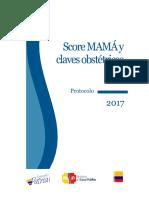 2017 Protocolo de Score Mamá y Claves Obstétricas