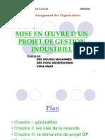 Expo PDF Mise en Place d Un Projet Industriel GP