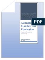 6. Australian Gas Production - Project on Time Series Forecasting