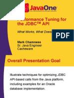 JDBC Tuning