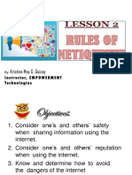 Lesson 2 Rules of Netiquette