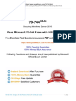 2020 Pass4itsure Microsoft 70-744 Exam Dumps Practice Test Questions