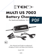 CTECK MULTI US 7002 Battery Charger