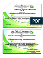 certificate of diff. competitions (recognition)