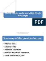 Lect3 (HTML images, audio and video)