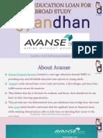 Avanse Education Loan for Abroad Study
