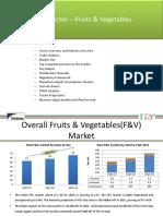 Food Sector – Fruits & Vegetables