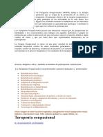 La Federación Mundial de Terapeutas Ocupacionales