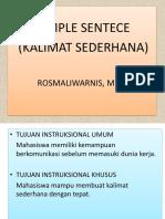 6. SIMPLE SENTENCE KULIAH POLITANI